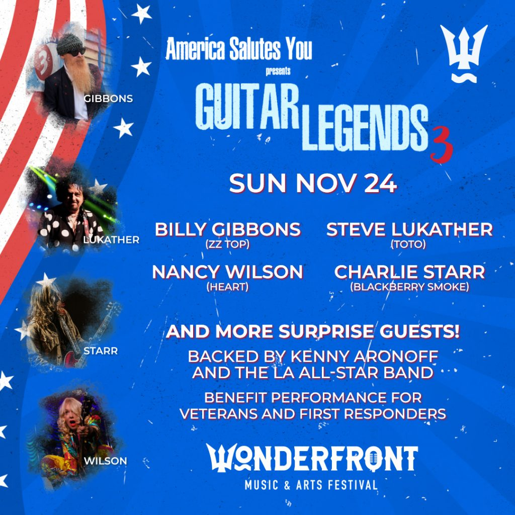 Guitar Legends 3 at Wonderfront Festival November 24